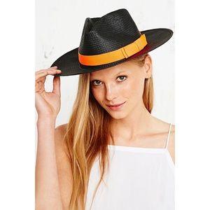 NWT Helene Berman Straw Trilby Hat